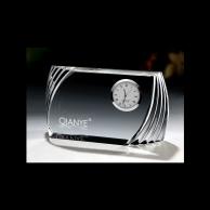 Horizontal Corporate Crystal Clock Award