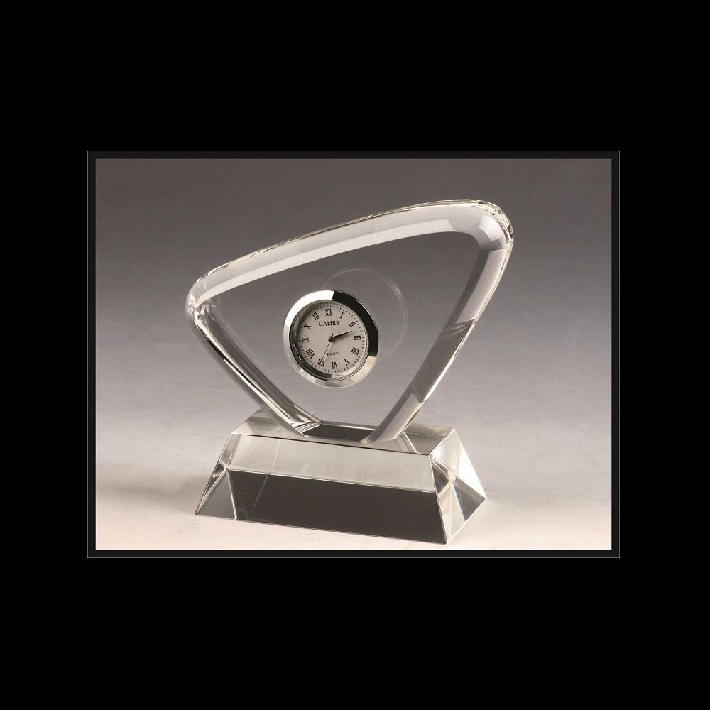 Unique Corporate Crystal Clock Award