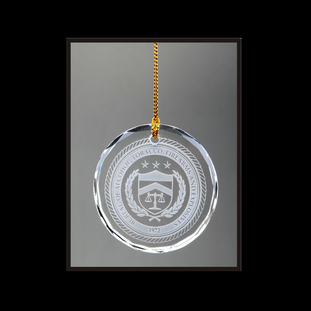 Circle Round Engraved Ornaments Wholesale