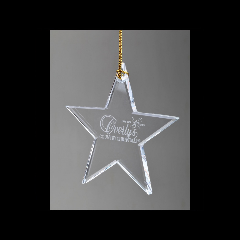 Engraved Wholesale Ornaments - Star