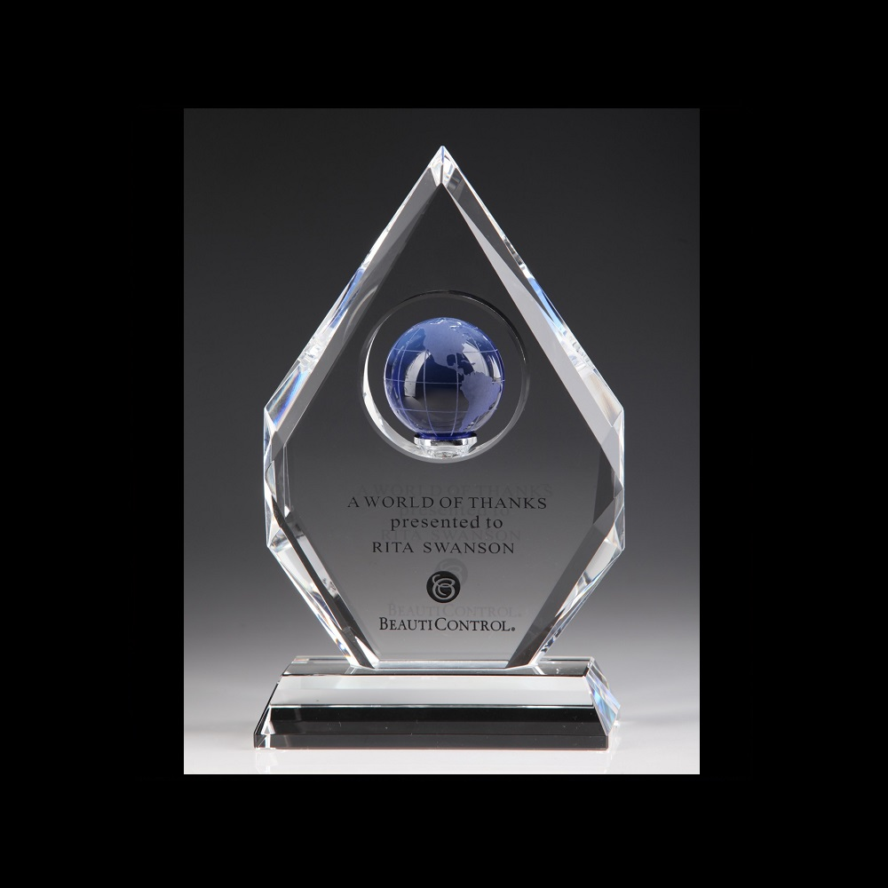 Corporate Crystal Awards Engraved