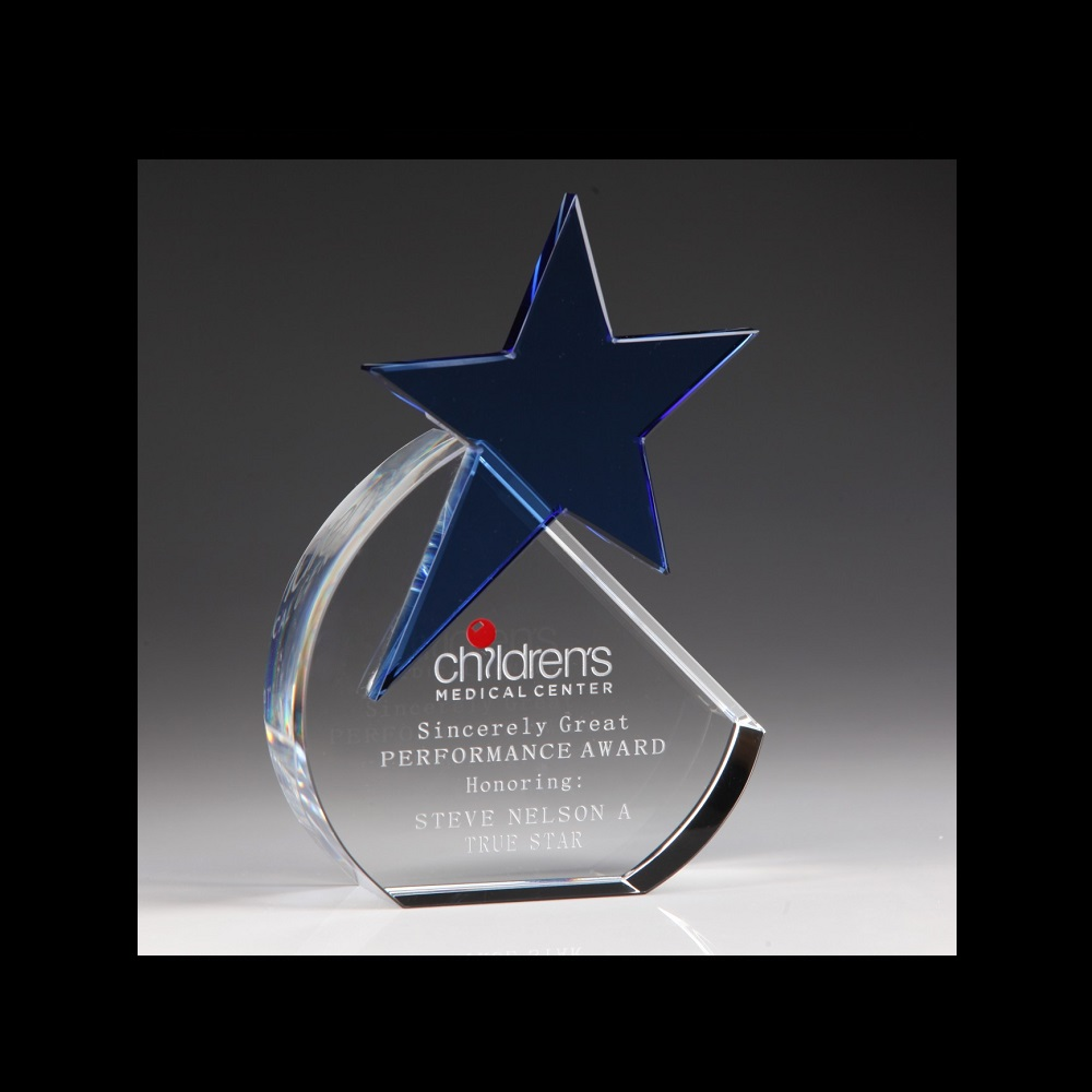 Engraved Corporate Crystal Shooting Star Awards