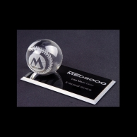 Engraved Crystal Baseball Awards Trophy