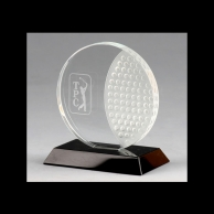 Engraved Crystal Corporate Golf Awards Trophies