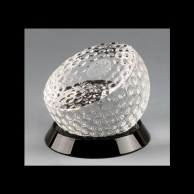 Engraved Crystal Corporate Golf Tournament Awards Trophies - Golf Ball Halved