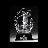 Engraved Crystal Golf Trophies