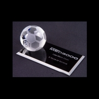Engraved Crystal Soccer Awards Trophy