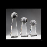 Engraved Crystal Sports Awards Trophies