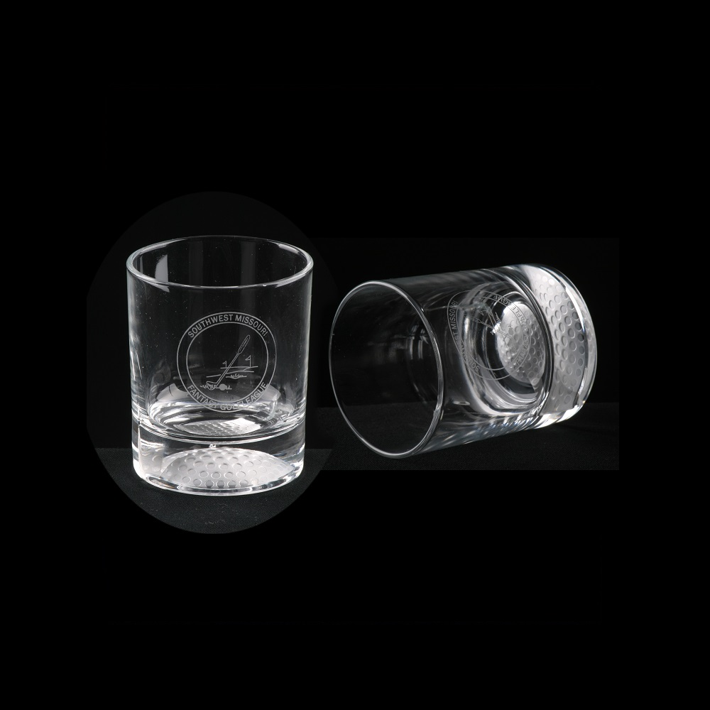 Engraved Crystal Whiskey Lowball Glasses